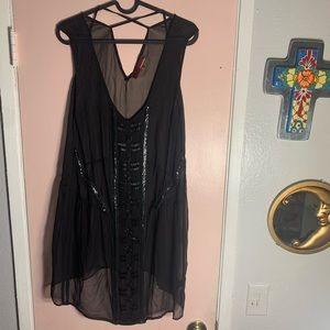 Line & Dot swimsuit cover up size medium